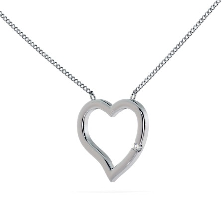 Round Heart Shape Diamond Pendant - HPR20