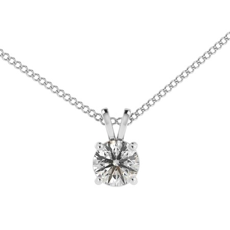 Round Solitaire Pendant - HPR35