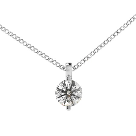 Round Solitaire Pendant - HPR36