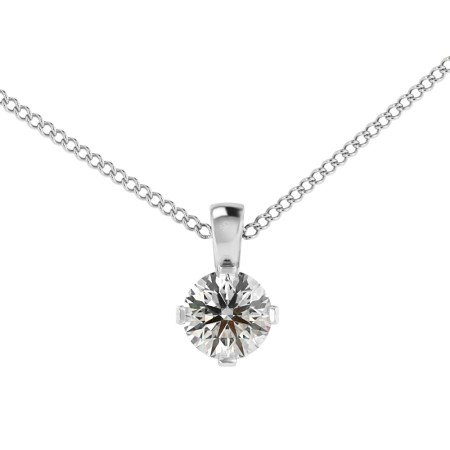 Round Solitaire Pendant - HPR39