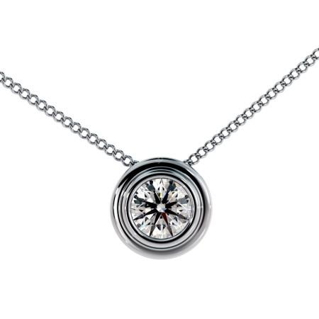 Round Solitaire Diamond Pendant - HPR3
