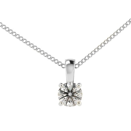 Round Solitaire Pendant - HPR42
