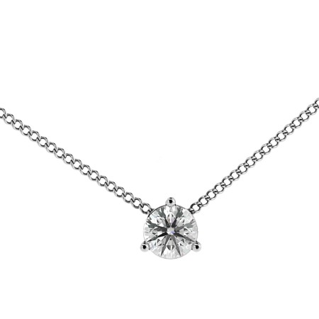 Round Solitaire Pendant - HPR48