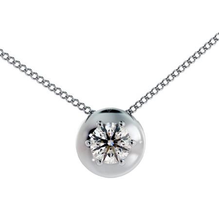 Round Solitaire Diamond Pendant - HPR4