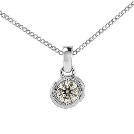 Round Solitaire Pendant - HPR58