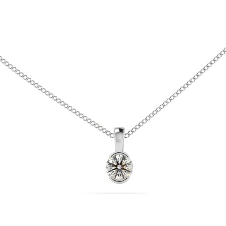 Round Solitaire Pendant - HPR63