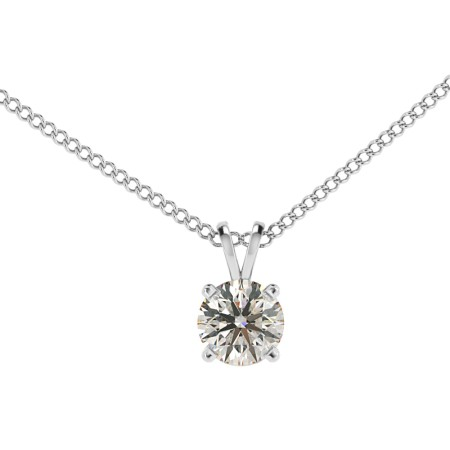 Round Solitaire Pendant - HPR70