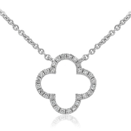 Round cut Plus Diamond Pendant & Fixed Chain - HPRDR114
