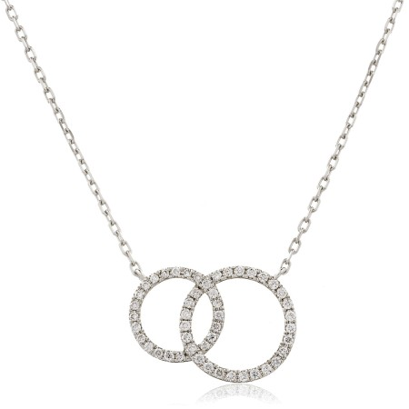 Twin Circle of Life Round Diamond Pendant - HPRDR116