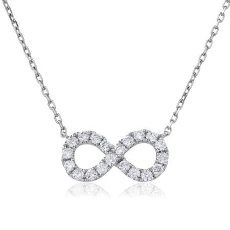 Round cut Infinity Diamond Pendant - HPRDR118