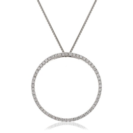 Round cut Circle of Life Diamond Pendant - HPRDR120