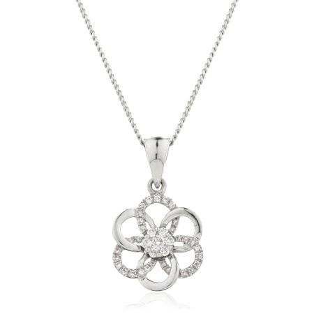 Round Designer Diamond Pendant - HPRDR122