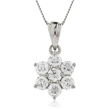 Round cut Designer Diamond Pendant - HPRDR139