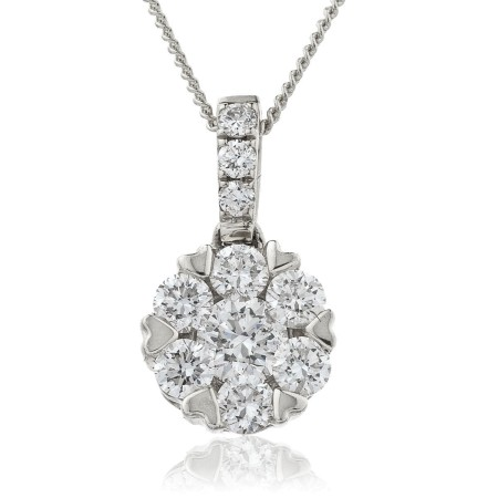 Round cut Designer Diamond Pendant - HPRDR140