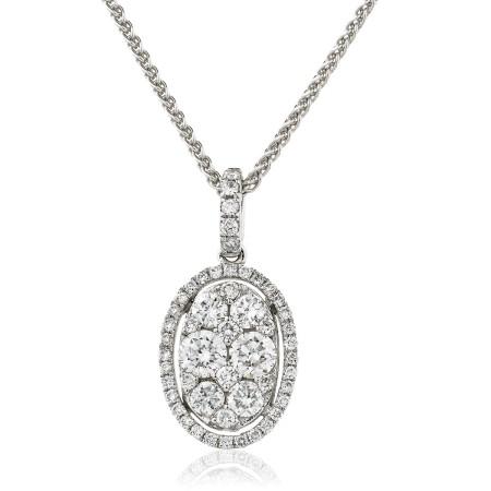 Round cut Designer Diamond Pendant - HPRDR143