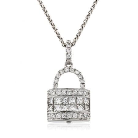 Round cut Designer Diamond Pendant - HPRDR145