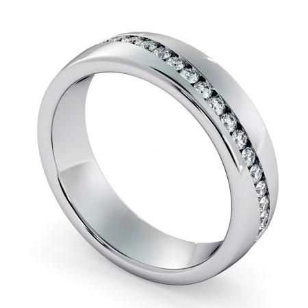 AQUARIUS Round cut Full Wave Diamond Eternity Ring - HRRFE741