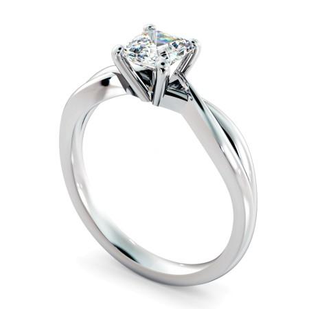 Asccher Cut Infinity Diamond Engagement Ring - HRA1150