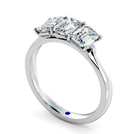 3 Emerald Diamonds Trilogy Ring - HRETR166