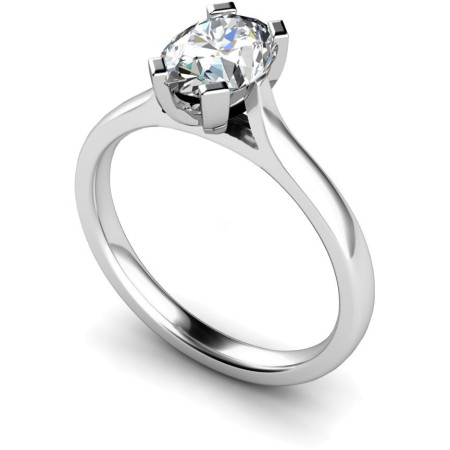 Oval Solitaire Diamond Ring - HRO359