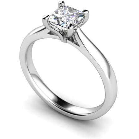 Princess Solitaire Diamond Ring - HRP323
