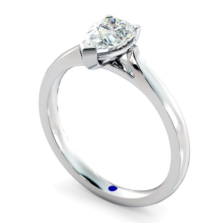 Pear Solitaire Diamond Ring - HRPE442