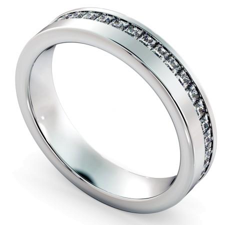TUCANA Offset Princess cut Full Diamond Eternity Band - HRPFE740