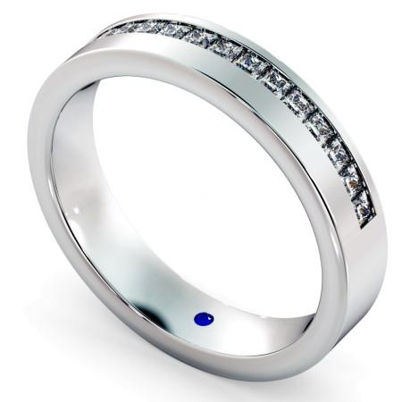 SAGITTA Offset Princess cut Half Diamond Eternity Band - HRPHE739