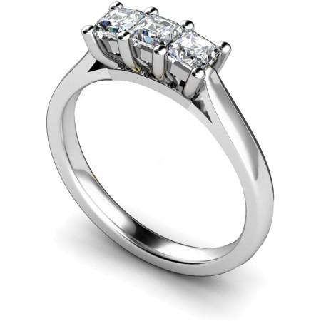 3 Princess Diamonds Trilogy Ring - HRPTR131