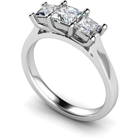 Princess 3 Stone Diamond Ring - HRPTR133