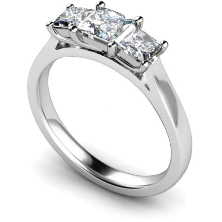 Princess 3 Stone Diamond Ring - HRPTR151