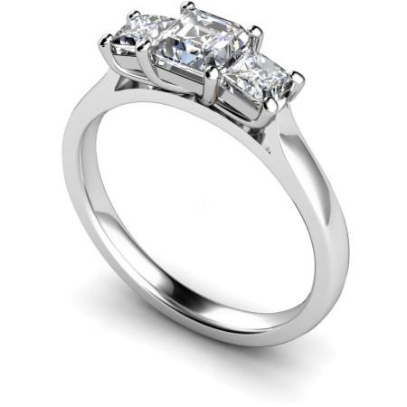 Princess 3 Stone Diamond Ring - HRPTR155