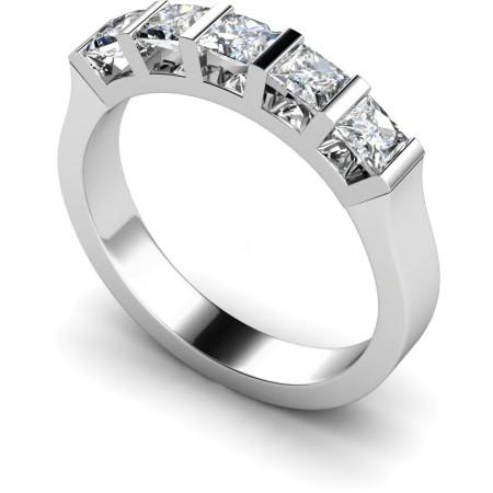 Princess 5 Stone Diamond Ring - HRPTR210