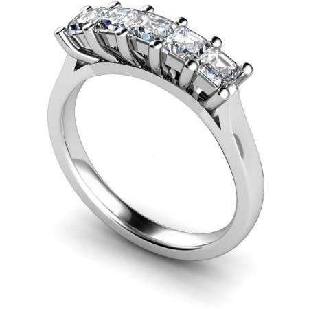 Princess 5 Stone Diamond Ring - HRPTR214