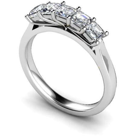 Princess 5 Stone Diamond Ring - HRPTR218