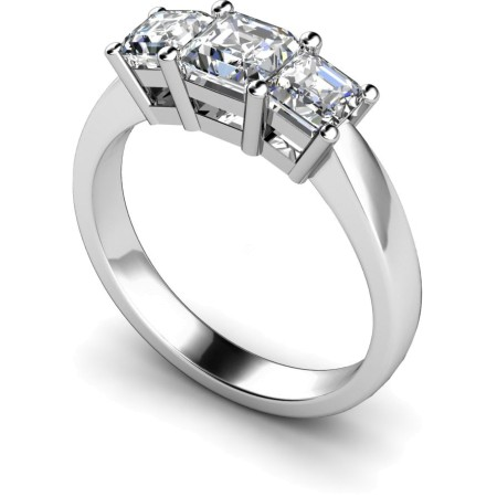 Princess 3 Stone Diamond Ring - HRPTR89