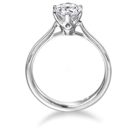 Round Diamond Engagement Ring 0.25ct F SI2 - HRR1-1BAT1