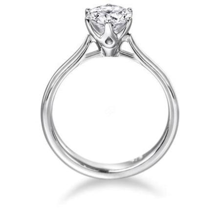 Round Diamond Engagement Ring 0.25ct F SI2 - HRR1-1BAT1
