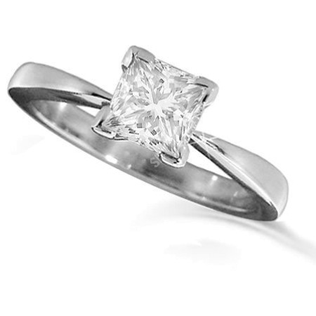 Princess Solitaire Diamond Engagement Ring 0.34ct  F SI1 - HRR19BAT1