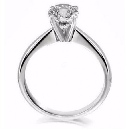 Round Solitaire Diamond Engagement Ring 0.75ct H VS2 - HRR2BAT1