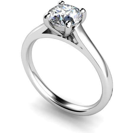HRR394 4 Claw Round cut Solitaire Diamond Ring 0.43ct / I1 clarity / H colour /  IGI certificate - HRR394ST1605