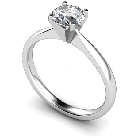 Round Diamond Engagement Ring 0.51ct H SI2 - HRR16BAT1