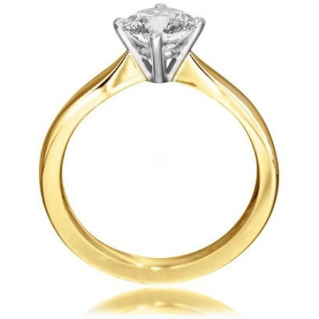 Round Diamond Engagement Ring 0.3ct H SI2 - HRR5BAT1