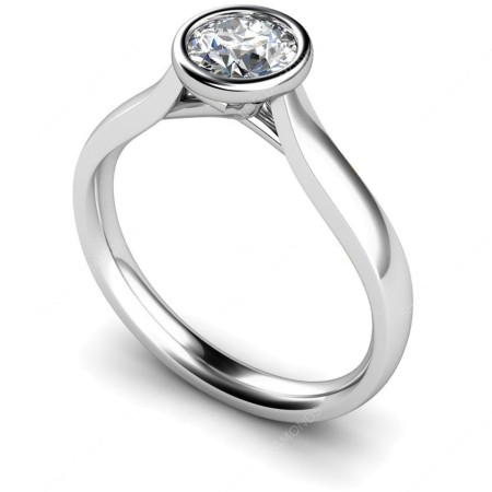 HRR625 Round Solitaire Diamond Ring 0.30ct D VS2 - HRR625RTN179