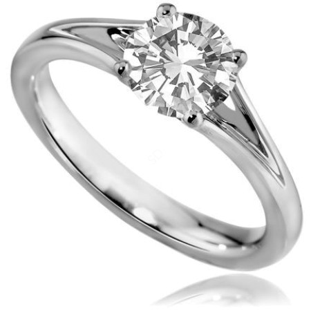 Round Diamond Engagement Ring 0.50ct H SI2 - HRR7BAT1