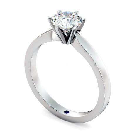 Round cut 6 Modern Claws Diamond Engagement Ring - HRR792