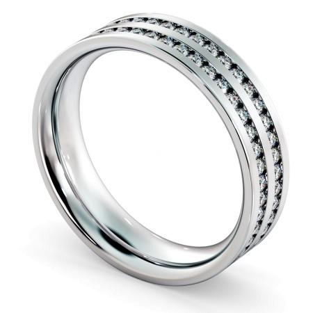 VELA Double Row Round cut Full Eternity Ring - HRRFE721