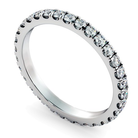 PEGASUS Round cut Full Diamond Eternity Ring - HRRFE736
