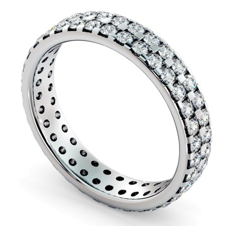 FORNAX Double row Round cut Full Eternity Ring - HRRFE754