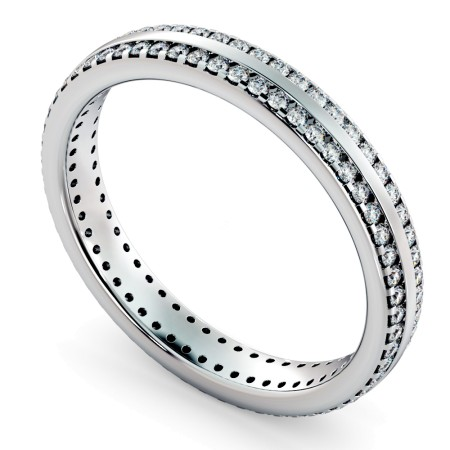 AURORA Double row Round cut Full Eternity Ring - HRRFE756